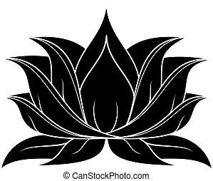 Lotus Set 038 - illustration of lotus silhouette
