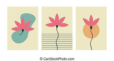 Lotus simple minimal wall art