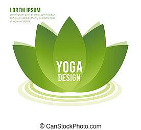 Lotus symbol isolated on white