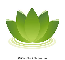 Lotus symbol isolated on white