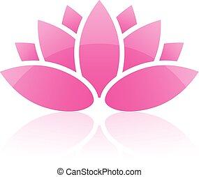 lotus, vecteur, icône