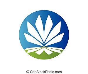 Lotus vector icon