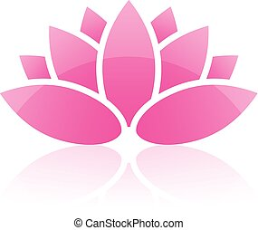 lotus, vector, pictogram