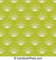 lotus virág, mint, jelkép, közül, jóga