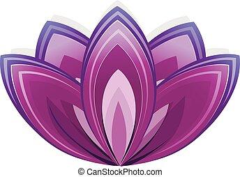 lotus virág, mint, jelkép, közül, yoga.