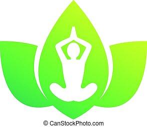 Lotus with people yoga inside
