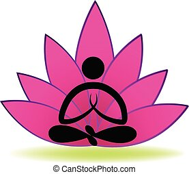 Lotus yoga man logo