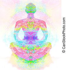 lotus, yoga, pose.