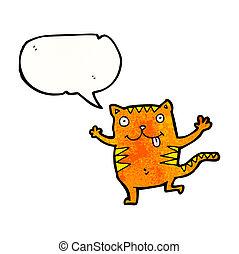 loucos, caricatura, gato