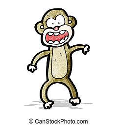 loucos, caricatura, macaco