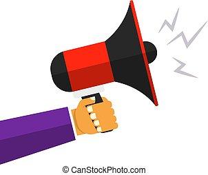loud megaphone speaker vector promotion announcement sing...