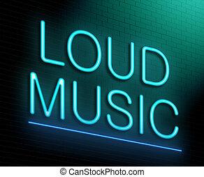 Loud music concept. - Illustration depicting an illuminated...