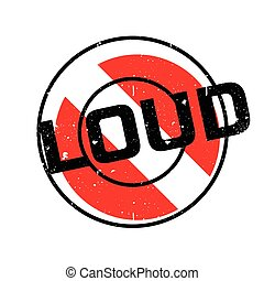 Loud rubber stamp
