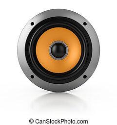 loud speaker isolated over white