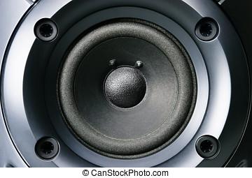 Loud speaker - Big stereo loud speaker close up