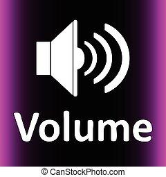 Loudspeaker and volume violet