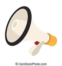 Loudspeaker cartoon icon