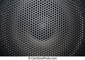 loudspeaker grid with round openings for background