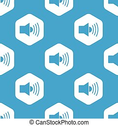 Loudspeaker hexagon pattern