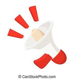 Loudspeaker icon, cartoon style