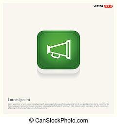 loudspeaker icon Green Web Button