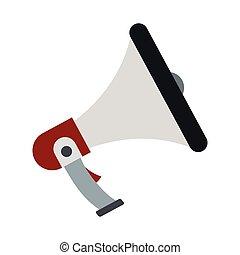 Loudspeaker icon in flat style