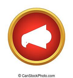 Loudspeaker icon in simple style