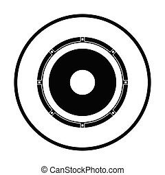 Loudspeaker  icon. Thin circle design. Vector illustration.