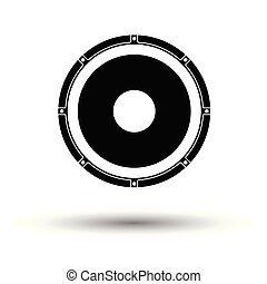 Loudspeaker icon. White background with shadow design....