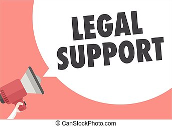 Loudspeaker Legal Support - minimalistic illustration of a...