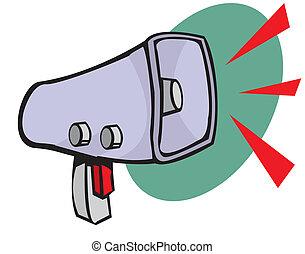 Loudspeaker or megaphone icon