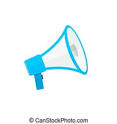 Loudspeaker or megaphone icon. Vector illustration. - ...