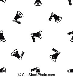 Loudspeaker pattern seamless black