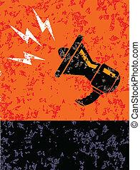 Loudspeaker poster grunge, vector eps 10