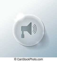 loudspeaker sign.