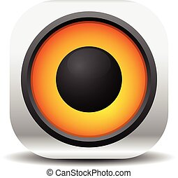 Loudspeaker, speaker, music, audio vector icon.