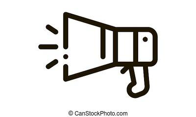 Loudspeaker Tool Icon Animation