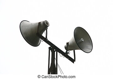 loudspeakers in rural areas, north china