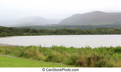 Lough Leane Lower Lake. View from Lake Hotel in Killarney.