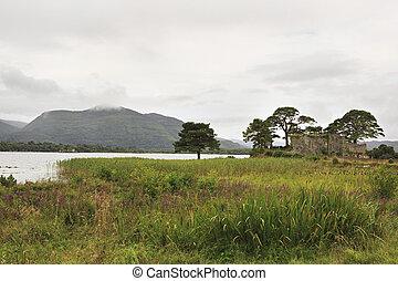 Lough Leane Lower Lake. View from Lake Hotel Killarney