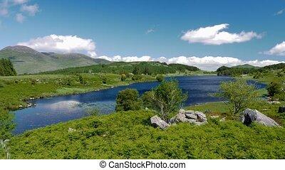 lough, looscaunagh, eingestuft, kerry, -, grafschaft, version, irland