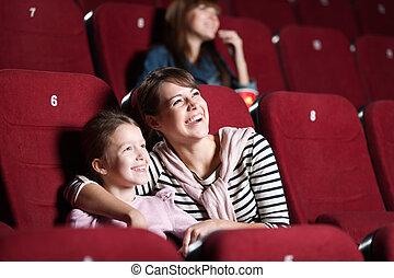 loughing, töchterchen, mutter, kino
