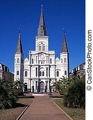 louis, orleans., saint, cathédrale, nouveau