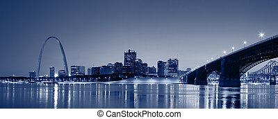 louis, str., panorama., skyline