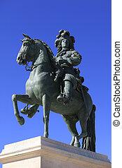 louis, xiv's, estatua