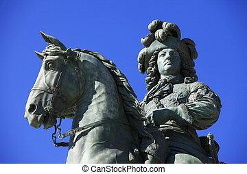 louis, xiv's, statua