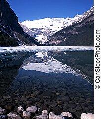 louise, nemzeti, park., tó, banff