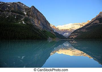 louise, parco nazionale, lago, banff