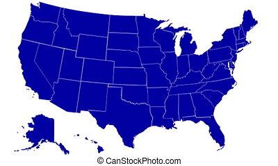 Louisiana 01 - State of Louisiana map reveals from the USA...