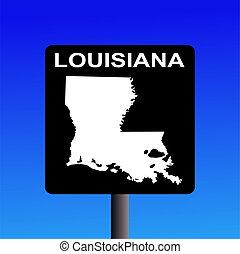 Louisiana highway sign - Blank Louisiana highway sign on...